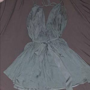 Turquoise Mini Dress/Romper